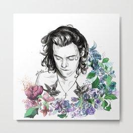 Flower Jesus Metal Print