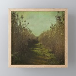 The path into the unknown Framed Mini Art Print