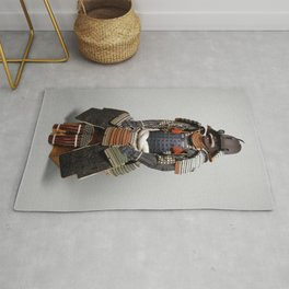 Historical Samurai Armor Photograph (18th Century) Rug