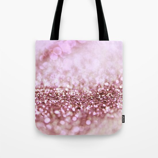 Pink sparkle shiny glitter effect print - Sparkle Valentine Backdrop on #Society6 Tote Bag