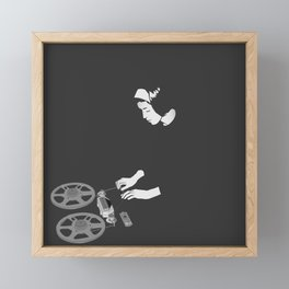 Delia with reel to reel audio tape recording Framed Mini Art Print