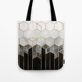 Charcoal Hexagons Tote Bag