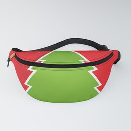 Simple Christmas Tree Merry Christmas Pattern Fanny Pack