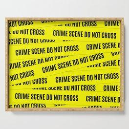 Crime Scene Tape Pattern Serving Tray