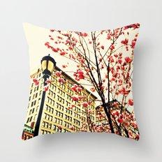 street blossoms Throw Pillow