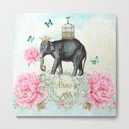 Paris Elephant Metal Print