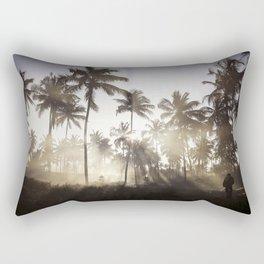 Palm Trees in The Sunlight Mist Photograph Rectangular Pillow