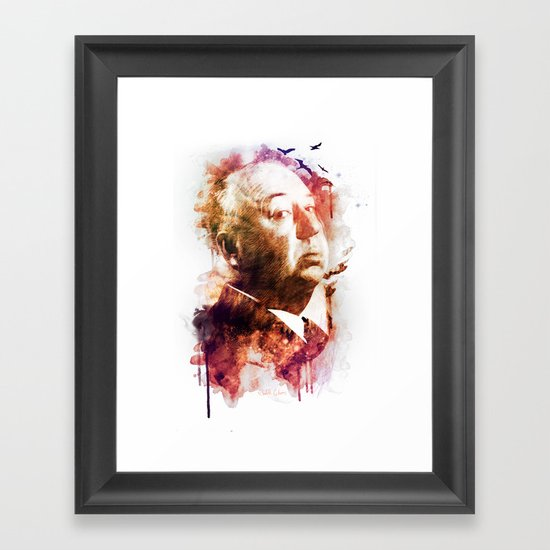 ALFRED HITCHCOCK Framed Art Print