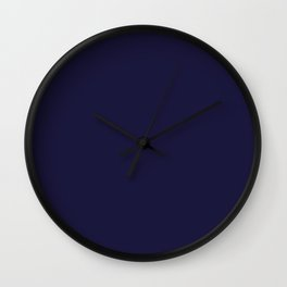Blue Yacht Solid Summer Party Color Wall Clock