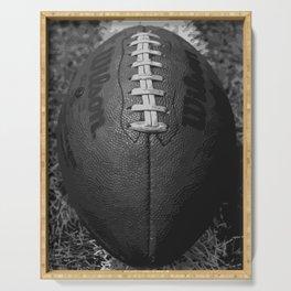 Big American Football - black &white Serving Tray