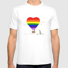 PRIDE LARGE White Mens Fitted Tee