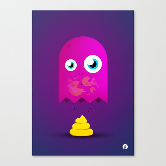 Game Over Pac. Canvas Print