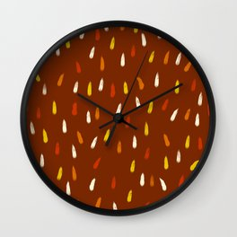 Indrik Inuit - Colorful Decorative Abstract Art Pattern Wall Clock