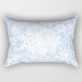 Winter Snow Pattern Rectangular Pillow