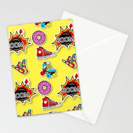 Pop art mix pattern Stationery Cards