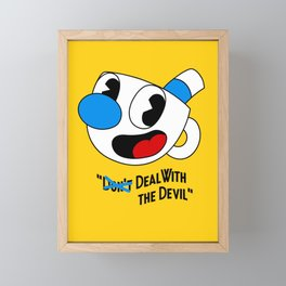 Deal With the Devil - Cuphead Framed Mini Art Print