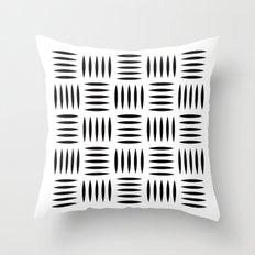 Black & white dash pattern #2 Throw Pillow