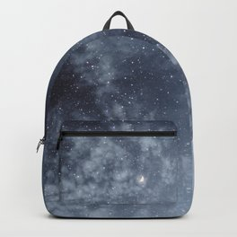 Blue veiled moon Backpack
