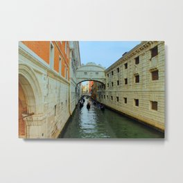 Bridge of Sighs, Venice, Italy,  in the late afternoon sun. Metal Print