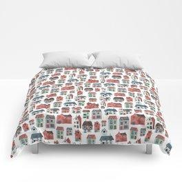 Watercolour Houses Comforters