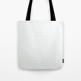 White Crocodile Realistic Skin Print Tote Bag