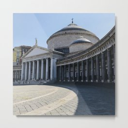 Napoli, Piazza del Plebiscito, Italy landmark, Naples photo, italian art, neoclassical architecture Metal Print