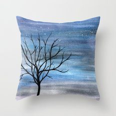 Silhouette Tree Throw Pillow