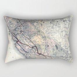 Map of California [and Nevada] 1876 Rectangular Pillow