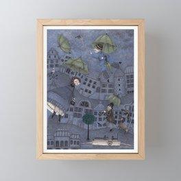 Monsieur Millet's Umbrellas Framed Mini Art Print