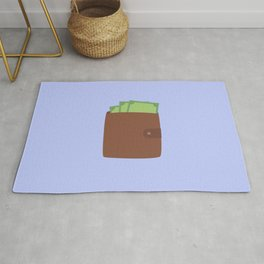 Wallet with money Rug