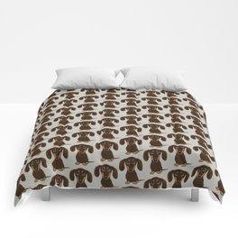 Chocolate Dachshund Comforters