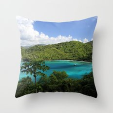 Maho Bay Throw Pillow