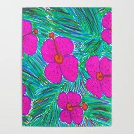 Hawaii Dreams Hibiscus Print Poster