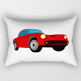 Red Sports Car Illustration Rectangular Pillow