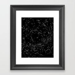Constellation Map - Black Framed Art Print