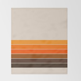 Golden Spring Stripes Throw Blanket