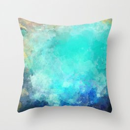Watercolor Aerial View of Ocean Cove {Gold Coast} Throw Pillow