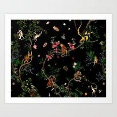 Monkey World Art Print