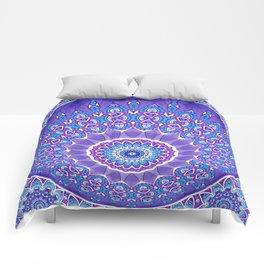 Indian Patterns Mandala Ball - Blue Pink White Comforters