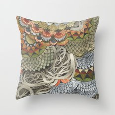 Quilted Forest: The Crow Throw Pillow