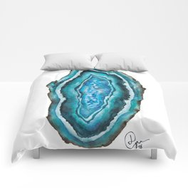 Section of Turquoise Agate Comforters