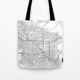 Minimal City Maps - Map of Anaheim, California, United States Tote Bag