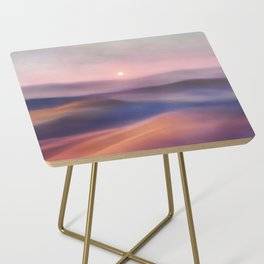 Minimal abstract landscape II Side Table