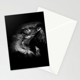 Macaw in Monochrome Stationery Cards