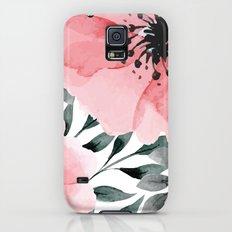 Big Watercolor Flowers Slim Case Galaxy S5