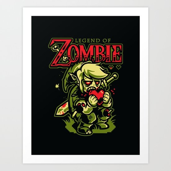 Legend of Zombie Art Print