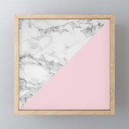 Marble + Pastel Pink Framed Mini Art Print