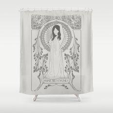 Reine des Cygnes (Grey) Shower Curtain