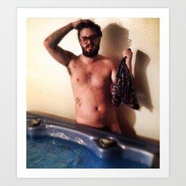 Davy Hot Tub Art Print