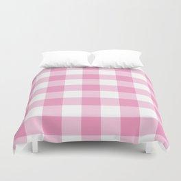 Light Pink Gingham Pattern Duvet Cover